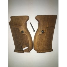 Walther P-38 9m/m walnut grips, checkered, Sile or Roberts  #23-48